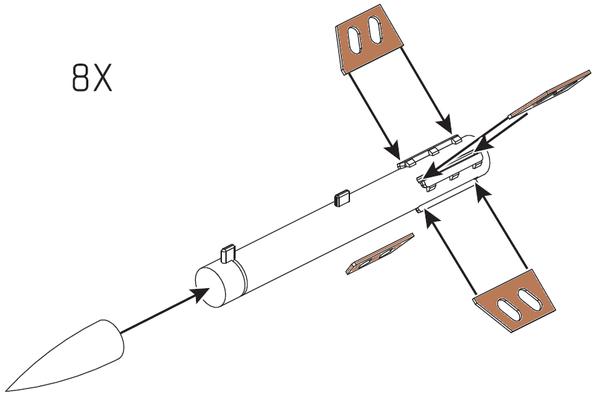 1/32 Scale Oerlikon RocketsX8