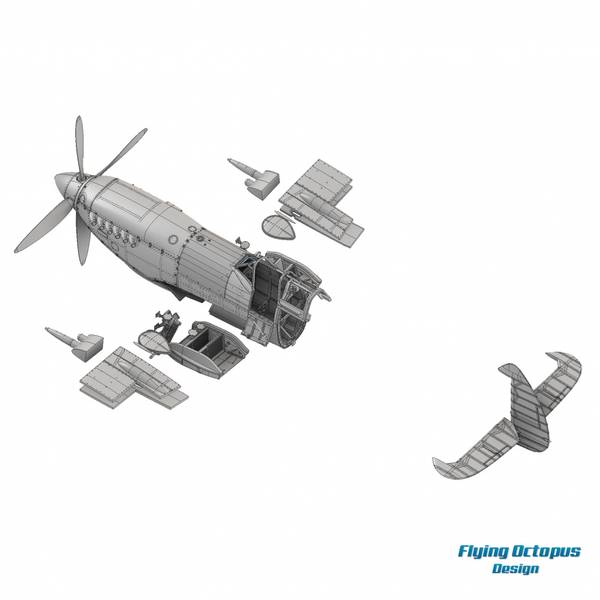 1/24 Supermarine Spitfire Mk IXe Resin Conversion Kit